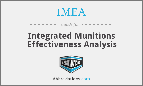 IMEA - Integrated Munitions Effectiveness Analysis