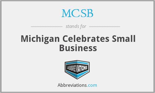 MCSB - Michigan Celebrates Small Business