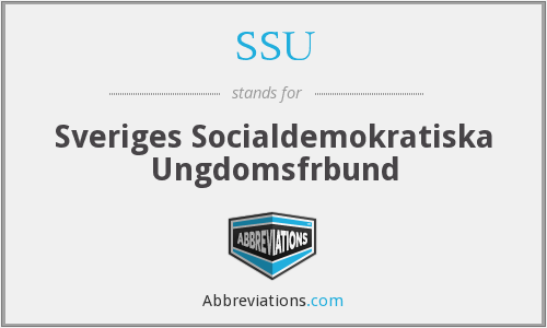 SSU - Sveriges Socialdemokratiska Ungdomsfrbund