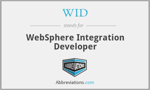 WID - WebSphere Integration Developer