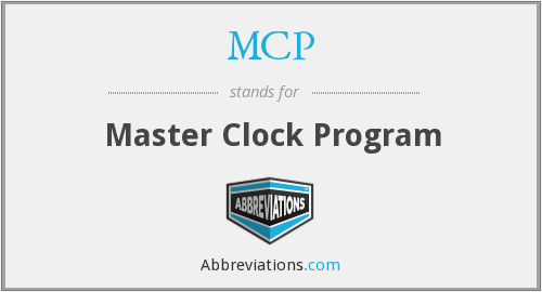 MCP - Master Clock Program