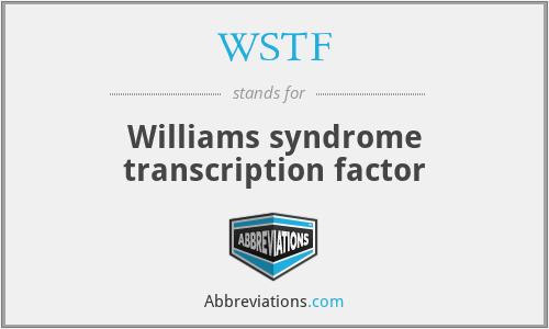 WSTF - Williams syndrome transcription factor
