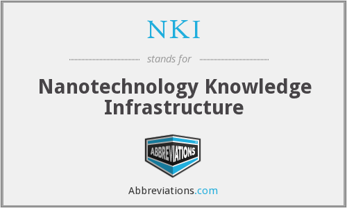 NKI - Nanotechnology Knowledge Infrastructure