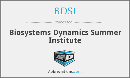 BDSI - Biosystems Dynamics Summer Institute