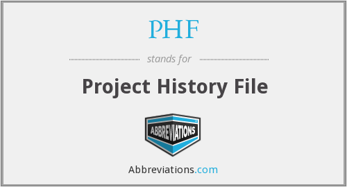 PHF - Project History File