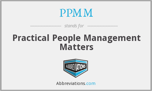 What does PPMM stand for?