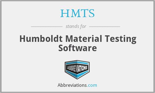 HMTS - Humboldt Material Testing Software