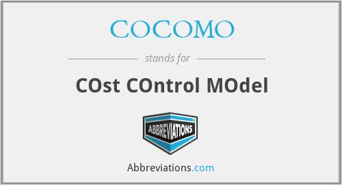 COCOMO - COst COntrol MOdel