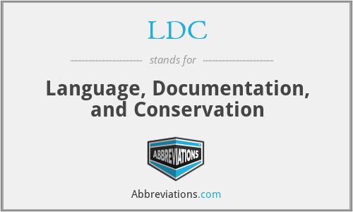 LDC - Language, Documentation, and Conservation