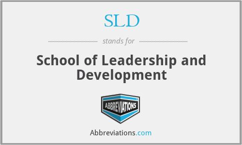 SLD - School of Leadership and Development