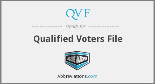 QVF - Qualified Voters File
