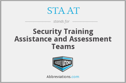 STAAT - Security Training Assistance and Assessment Teams