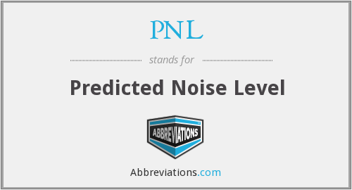 PNL - Predicted Noise Level