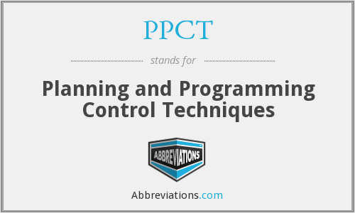 PPCT - Planning and Programming Control Techniques