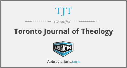 TJT - Toronto Journal of Theology