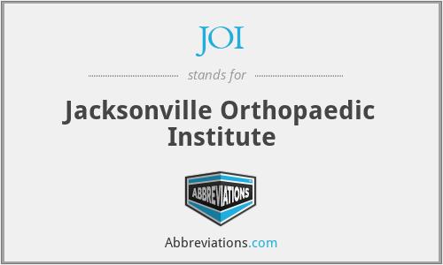 JOI - Jacksonville Orthopaedic Institute