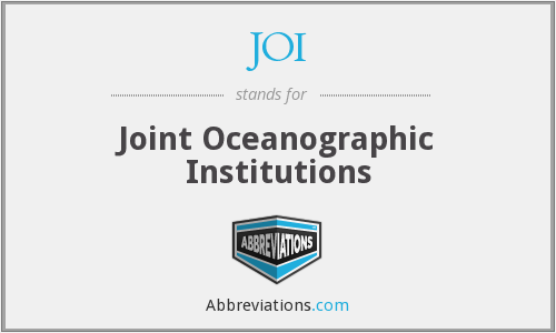 JOI - Joint Oceanographic Institutions