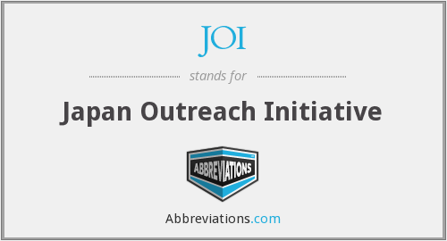 JOI - Japan Outreach Initiative