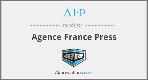 AFP - Agence France Press
