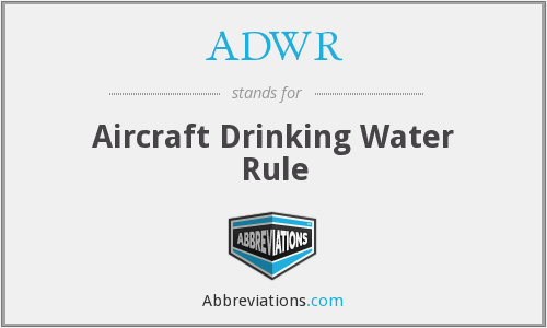 What does ADWR stand for?