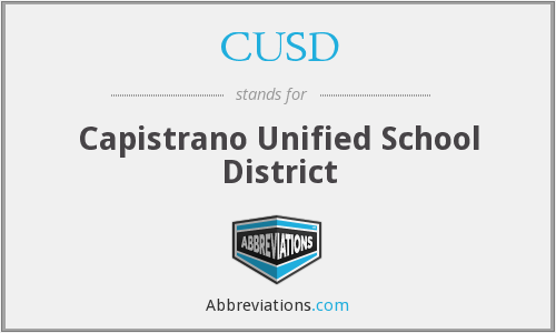 What does CUSD stand for?