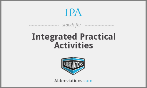 IPA - Integrated Practical Activities