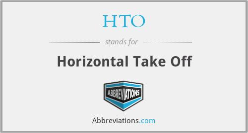 HTO - Horizontal Take Off