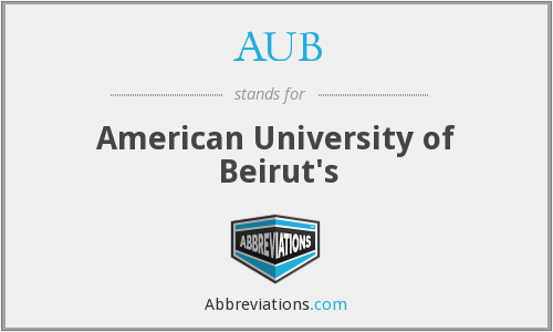 AUB - American University of Beirut's
