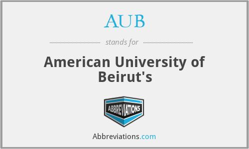 AUB - American University of Beirut's