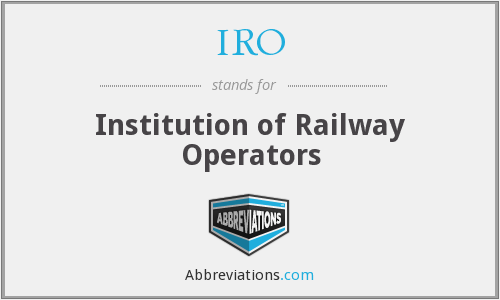 IRO - Institution of Railway Operators