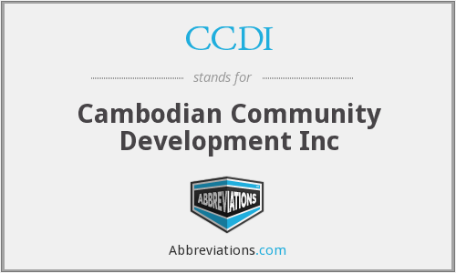 CCDI - Cambodian Community Development Inc