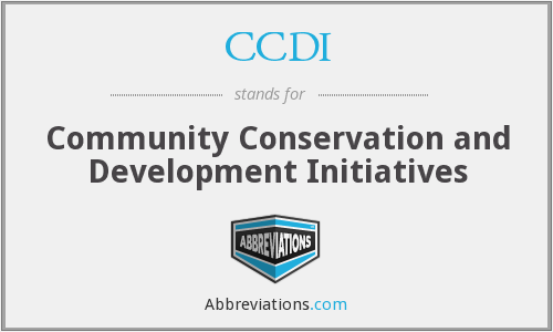 CCDI - Community Conservation and Development Initiatives