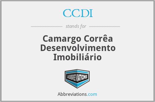 CCDI - Camargo Corrêa Desenvolvimento Imobiliário