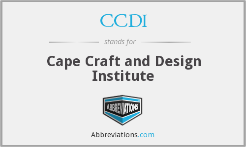 CCDI - Cape Craft and Design Institute