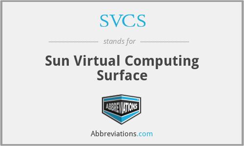 SVCS - Sun Virtual Computing Surface