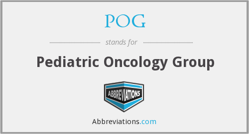 POG - Pediatric Oncology Group