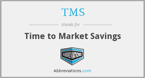 TMS - Time to Market Savings