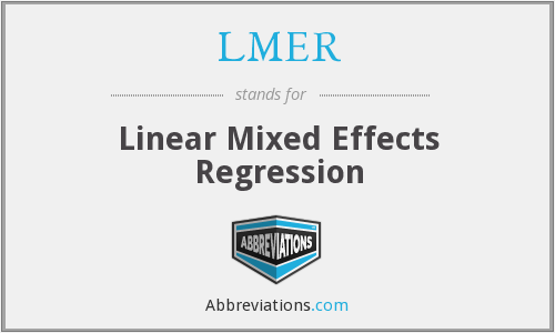 LMER - Linear Mixed Effects Regression