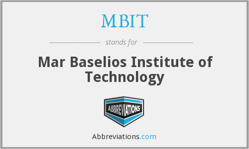 MBIT - Mar Baselios Institute of Technology