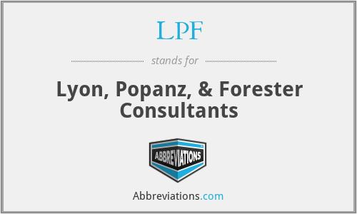 LPF - Lyon, Popanz, & Forester Consultants