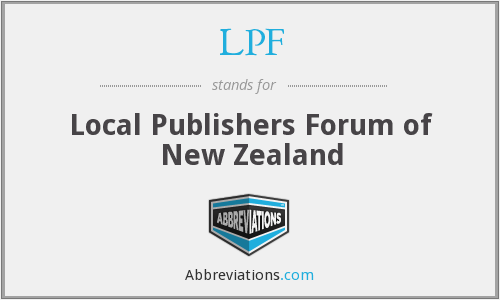 LPF - Local Publishers Forum of New Zealand