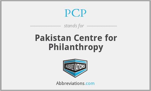 PCP - Pakistan Centre for Philanthropy