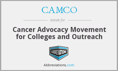 CAMCO - Cancer Advocacy Movement for Colleges and Outreach