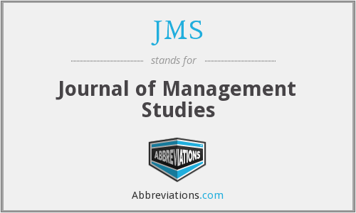 JMS - Journal of Management Studies
