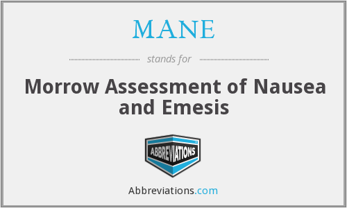 MANE - Morrow Assessment of Nausea and Emesis