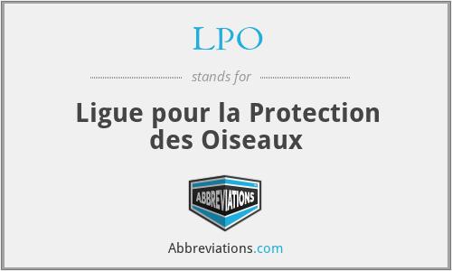 LPO - Ligue pour la Protection des Oiseaux