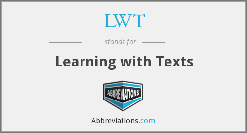 LWT - Learning with Texts