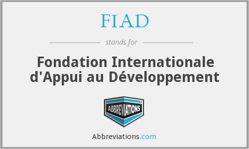 FIAD - Fondation Internationale d'Appui au Développement