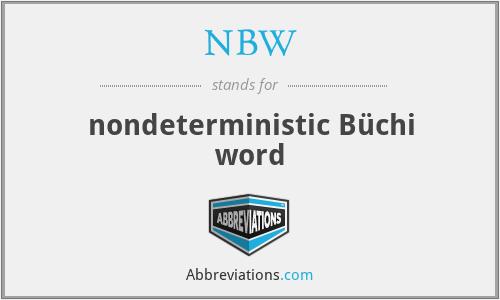 NBW - nondeterministic Büchi word