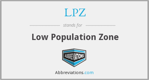 LPZ - Low Population Zone